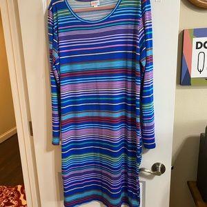 LuLaRoe Debbie dress sz 3X NWOT